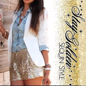 Boutique Pants - Sequin Shorts