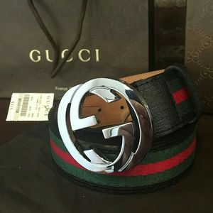 Gucci Other - Authentic NWT Gucci Black Green Red Belt