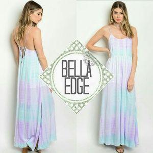 Bella Edge Dresses & Skirts - Lilac mint tie dye maxi dress