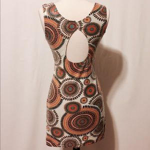 Boutique Dresses & Skirts - Sequins Psychedelic Bodycon Open Back Mini Dress