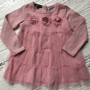 Wendy Bellissimo Other - Pink Rose & Tulle Dressy Top