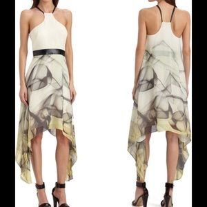 "Milly of New York Dresses & Skirts - Milly ""Breene"" Silk and Leather Belted Dress"