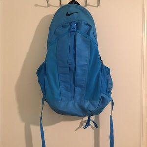 Blue Nike backpack