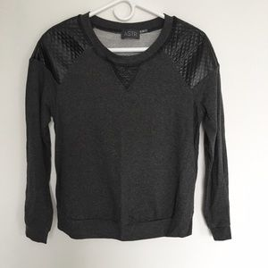 ASTR Faux Leather Pull over Sweater