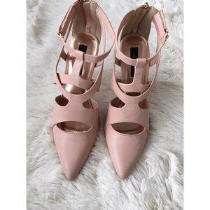 Dollhouse Shoes - Dollhouse blush pink 'Tangle' heels 7.5