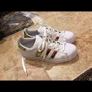 Adidas Shoes - Addids superstars size 7 new custom