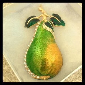 Berebi Jewelry - Large Berebi Pear Enamel Brooch