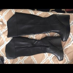 Knee high black boots from torrid
