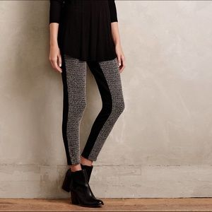 Anthropologie Lilka Mixed Knit Leggings