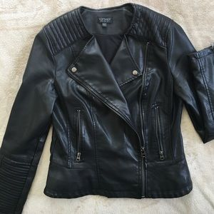 TOPSHOP vegan leather moto jacket. Size US 8.