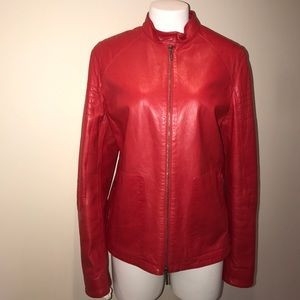 Jil Sander Jackets & Blazers - Jil Sander Motorcycle Leather Jacket
