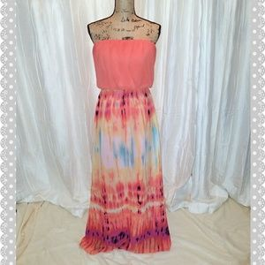 Bisou Bisou Dresses & Skirts - Flowing and colorful summer maxi dress
