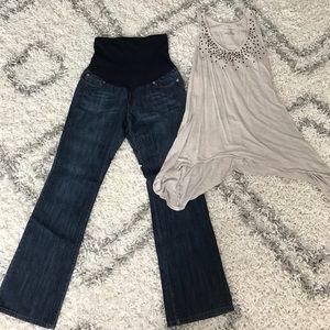 Liz Lange for Target Denim - Maternity jeans and top