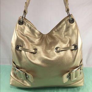 Handbags - FLASH SALE!! Lovely Slouched Gold Metallic Bag