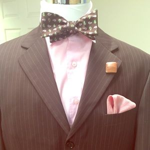 Ferrecci Other - Dark Brown Pin Strip Suit