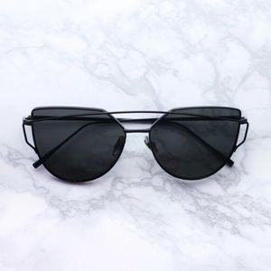 Quay Australia Accessories - Black oversized cat eye sunglasses