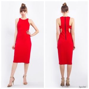 NWT Sugarlips Simple Romance Coral Cutout Dress