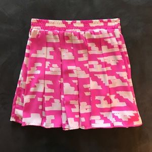 Aqua Pink Patterned Skirt