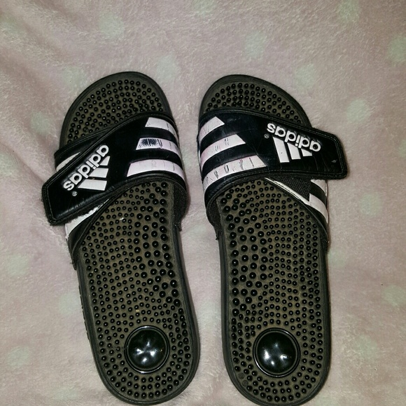 70a65aa85e3a2 Adidas Shoes - Old worn Adidas slides
