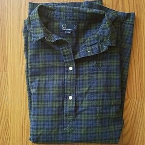 Fred Perry Tops - Fred Perry Plaid Tunic Shirt