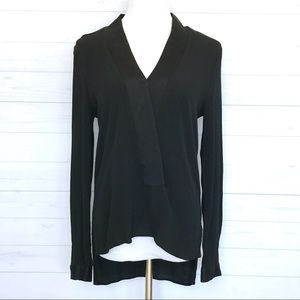 Zara Woman V-neck Long Sleeve Top