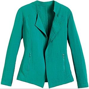 Chico's Jackets & Blazers - 30% OFF BUNDLES💐Chico's 3/4 Sleeve Teal Jacket💐