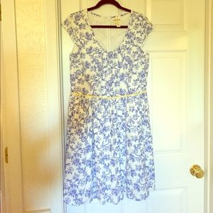 Matilda Jane Dresses & Skirts - Matilda Jane Spring Dress Bluebell Toile  EUC