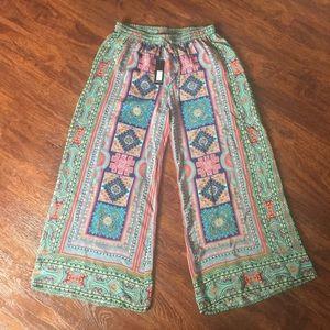 Tolani Pants - ✨HUMP DAY SALE✨100% Silk Aztec Wide-Leg Pants