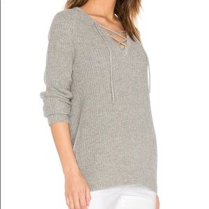 Central Park West Tops - Lace up sweater