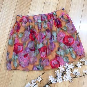 J. Crew Dresses & Skirts - J. CREW watercolor mini skirt, 2.