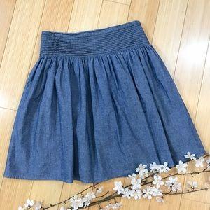 Anthropologie Dresses & Skirts - Anthropologie DOLAN chambray skirt, 2.