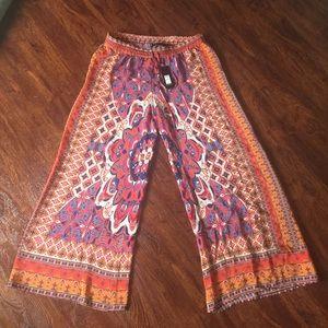 Tolani Pants - ✨HUMP DAY SALE✨ 100% Silk Starburst Wide Leg Pants