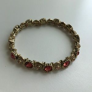 Jewelry - Gold and coral stretch bracelet