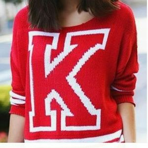 H&M Sweaters - Chunk red knit sweater