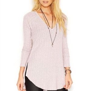 Free People Tops - Free People Beach Babe V-neck Ribbed Top