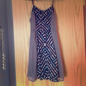 Summer dress with a cute tribal like pattern