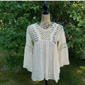 MOVING SALE Listicle Hand Crochet Boho Top