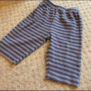 Baby Essentials Other - Blue red and gray striped pants in great condition