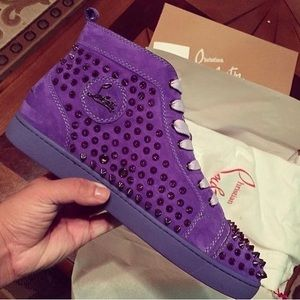 low priced 5d786 cd1b6 Purple Christian Loubs