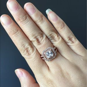 Jewelry - Rose gold over 925 silver engagement promise ring