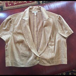 Tops - Gold Short Jacket