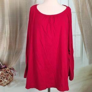 Adonna Tops - Adonna Red Long Sleeved Top