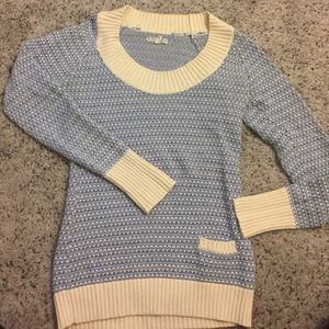 Old Navy Blue and Cream Sweater with Front Pocket