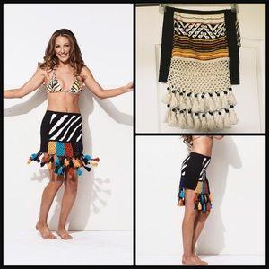 Indah Dresses & Skirts - INDAH ☀️ Kipewa Pom Pom Mini Skirt NWT