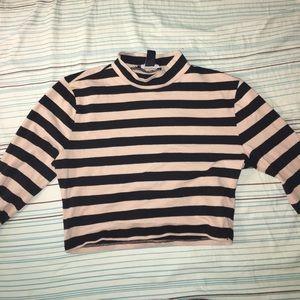 Long Sleeve striped crop top