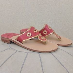 Jack Rogers Shoes - NWT Jack Rogers Nantucket Gold Sandals Size 7