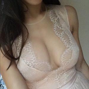 Extra Photos of BEBE Lace Dress (MODELED)