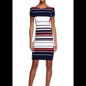 Three Dots Dresses & Skirts - Three Dots- Striped Body-con Dress