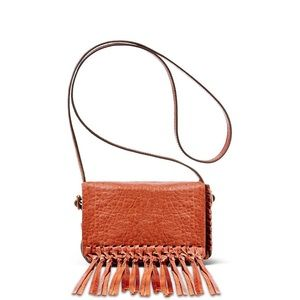 B Brian Atwood Handbags - 💕B BRIAN ATWOOD acolby cognac fringe bag NEW