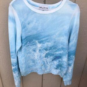 Wildfox Sweaters - WILDFOX SZ S OCEAN WAVES BBJ SWEATER SOFT